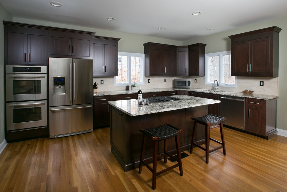 Dark Cherry Custom Kitchen Cabinet Remodel - Monroe CT | Ackley Cabinet LLC