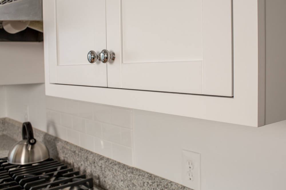 White Kitchen Cabinet - Conversion Varnish Finish | Ackley Cabinet Ridgefield CT