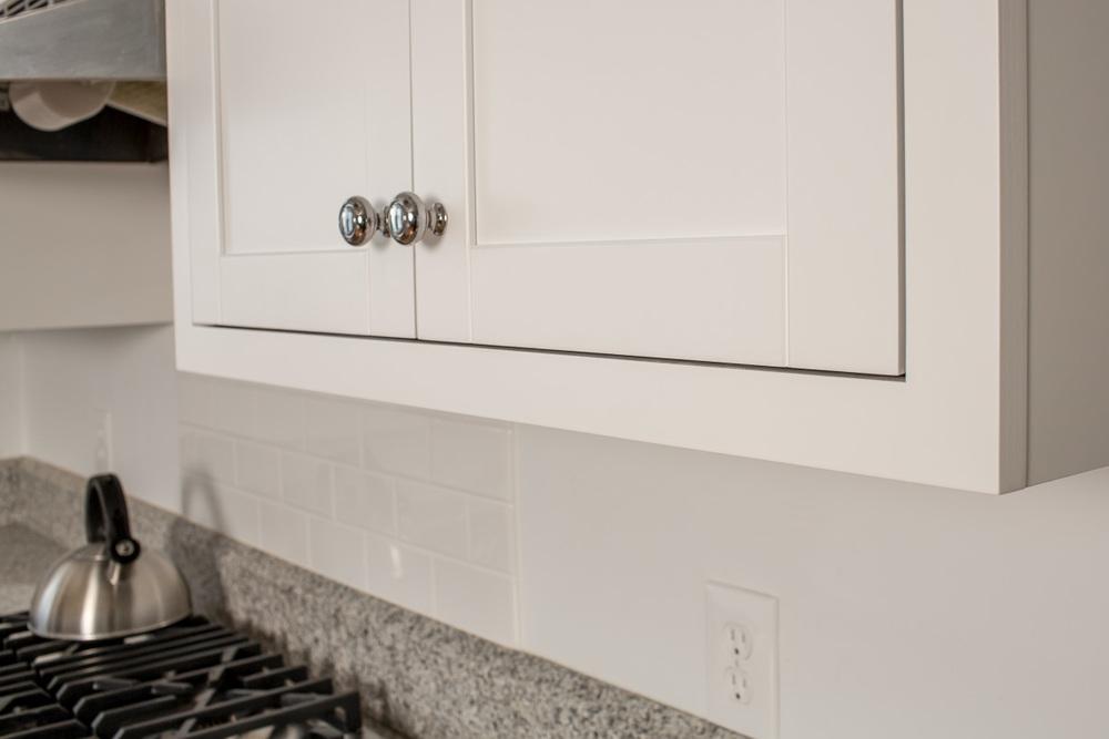 White Kitchen Cabinet   Conversion Varnish Finish | Ackley Cabinet  Ridgefield CT