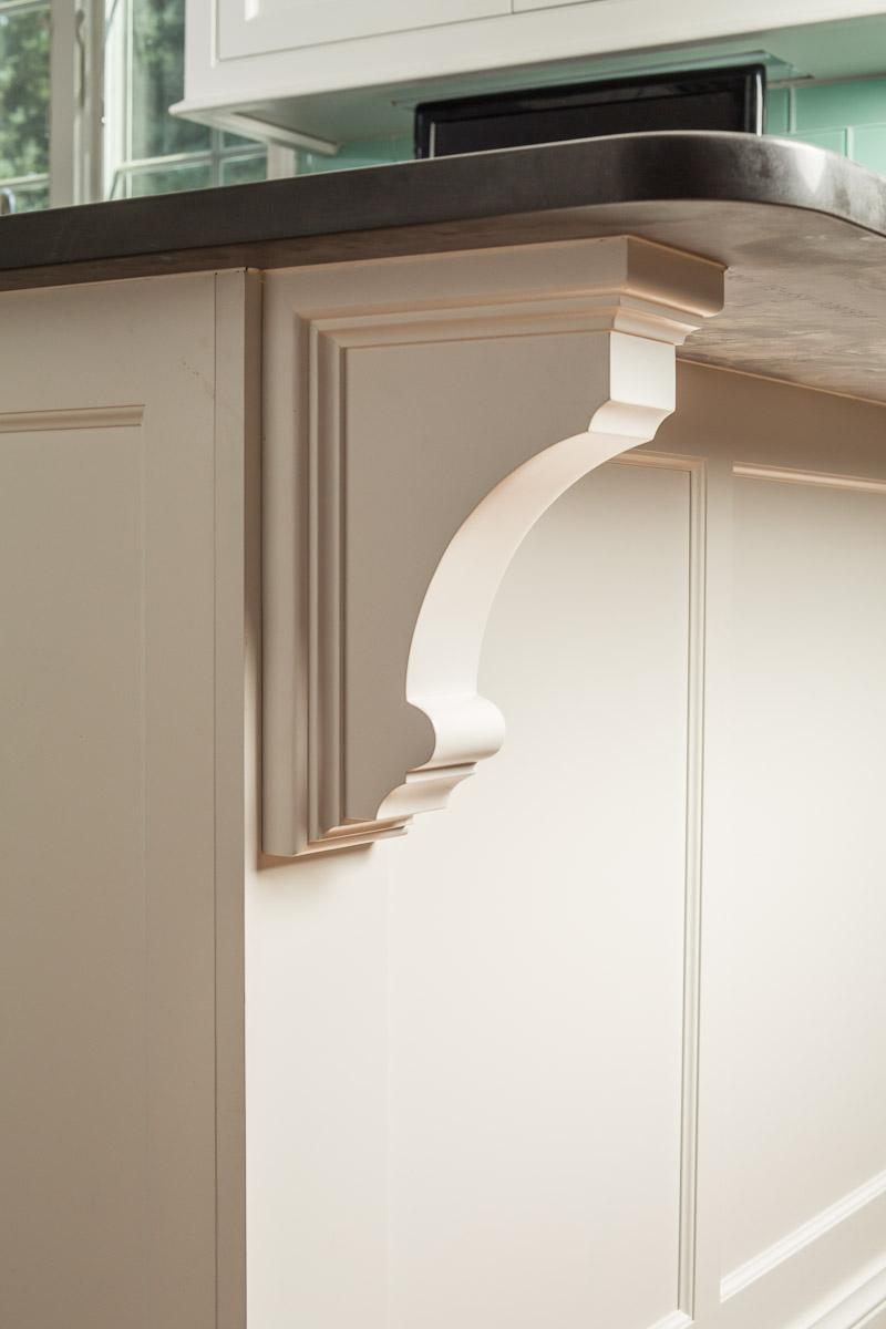 White Custom Cabinet Corbel