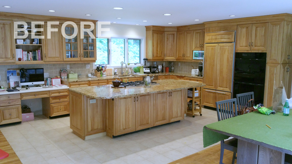 Ackley Cabinet Greenwich CT Kitchen Before1.jpg