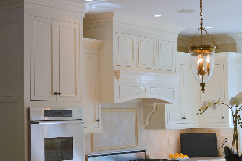Custom White Range Wood Hood - Ridgefield CT