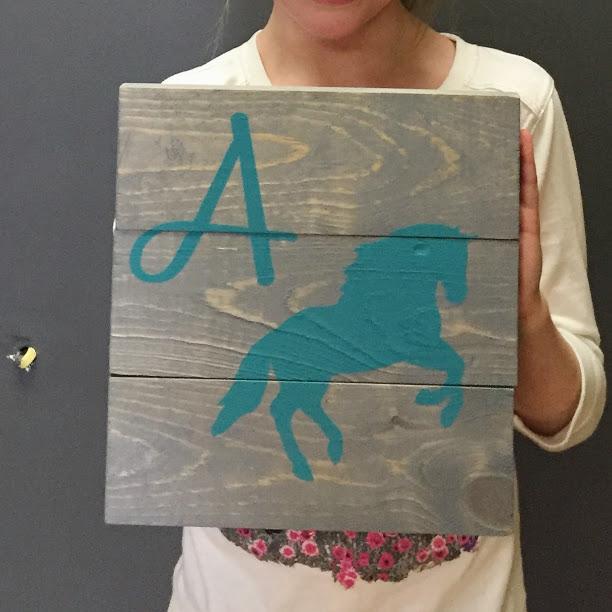 Horse w/ initial