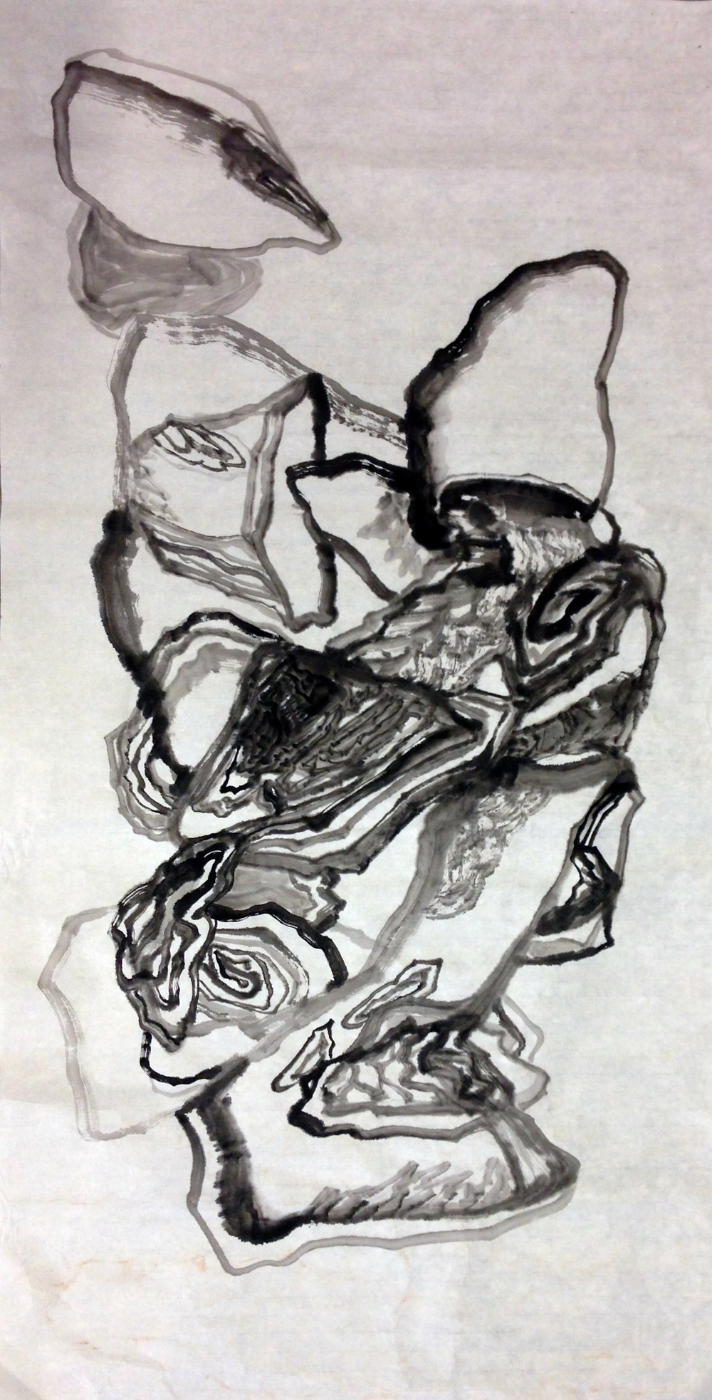 2014 138cm x 71cm Chinese Ink on Rice Paper
