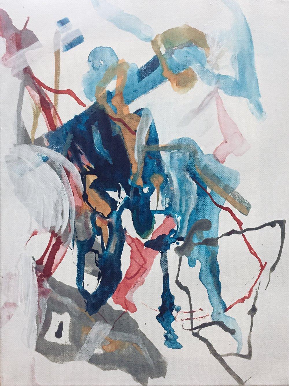 2016 42cm x 30cm Acrylic on Canvas