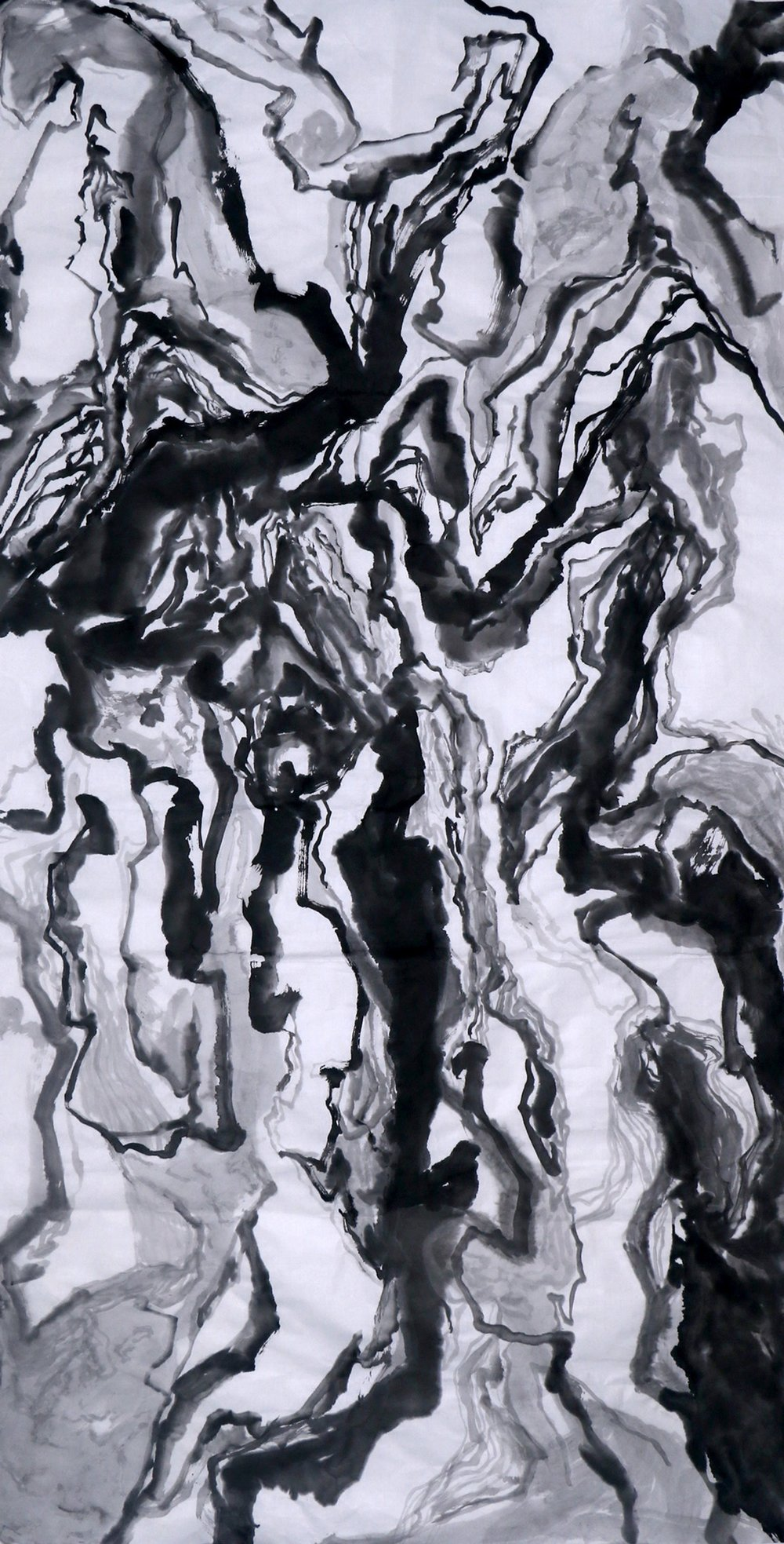 2016 138cm x 71cm Chinese Ink on Rice Paper