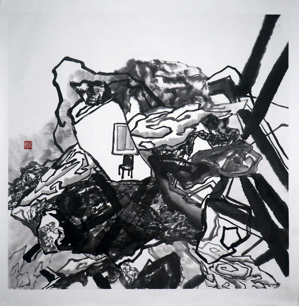 2016 71cm x 71cm Chinese Ink on Rice Paper