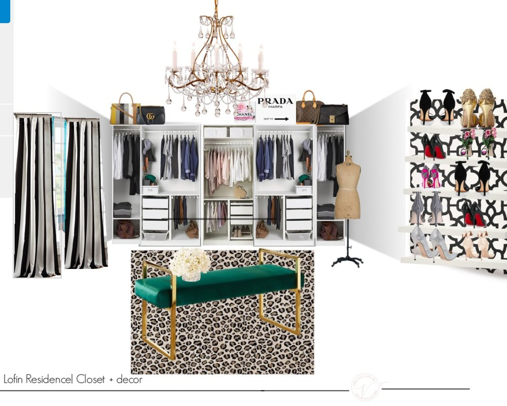 Here is the design board I presented to my client before I started the closet.