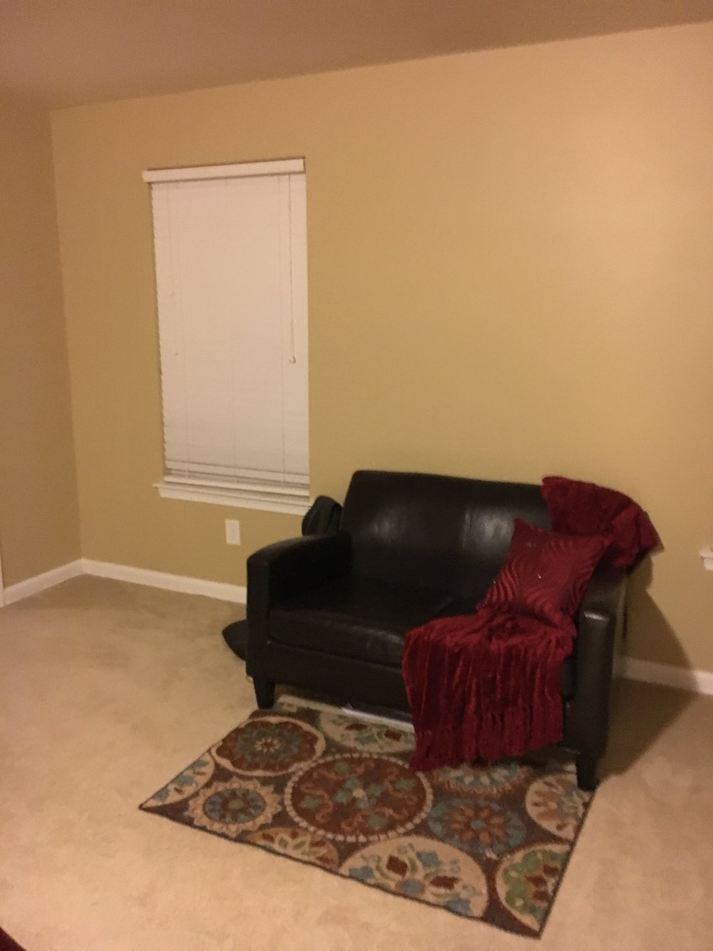 BEFORE: Sitting area in bedroom