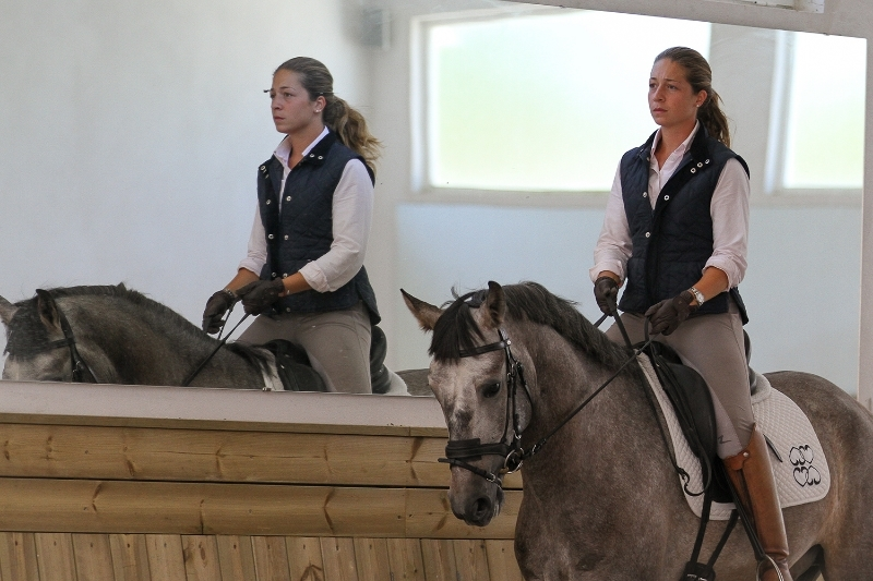 Equitation lesson in Portugal
