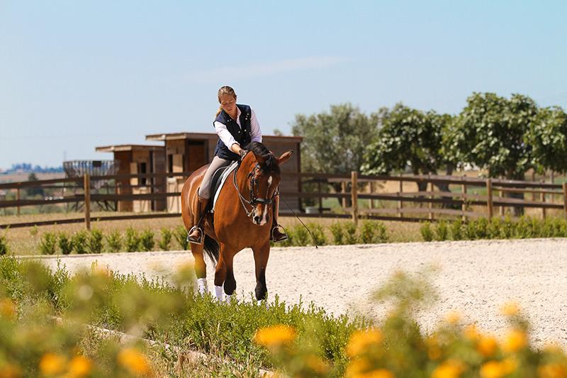 Horse rider Morgane Giordimaina