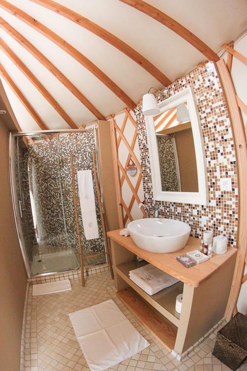 Bathroom in the yurt