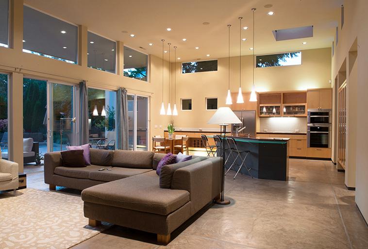 modern open concept interior