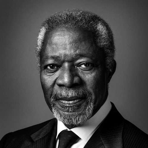 "- ""The way we educate the youth and leaders of tomorrow must also change, we must seize the moment to liberate and mobilize minds to face these challenges with strength and purpose.""— Kofi Annan, Former United Nations Secretary General"