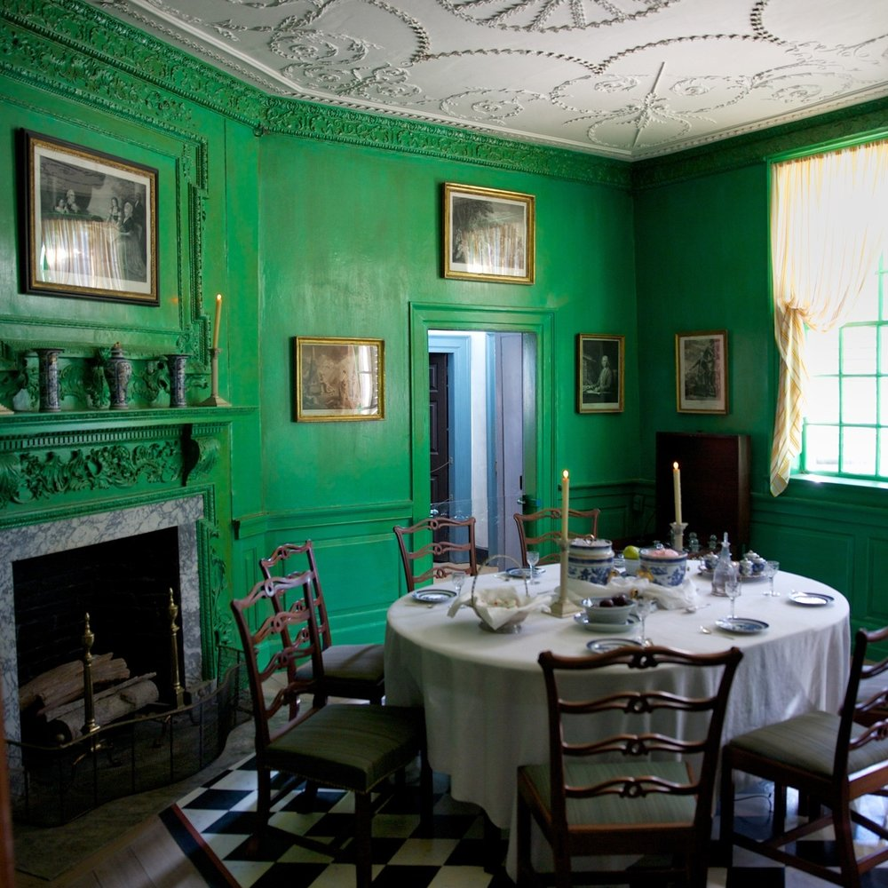 The dining room at Mount Vernon.