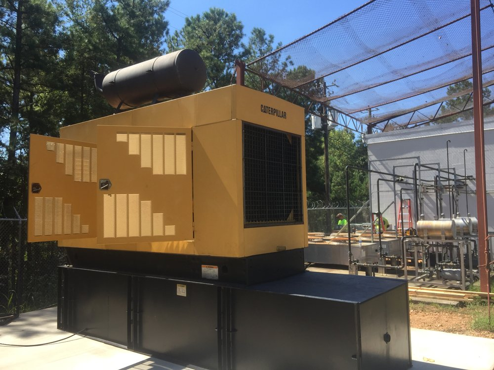 ABC 33/40 generator and day tank in Northport, AL