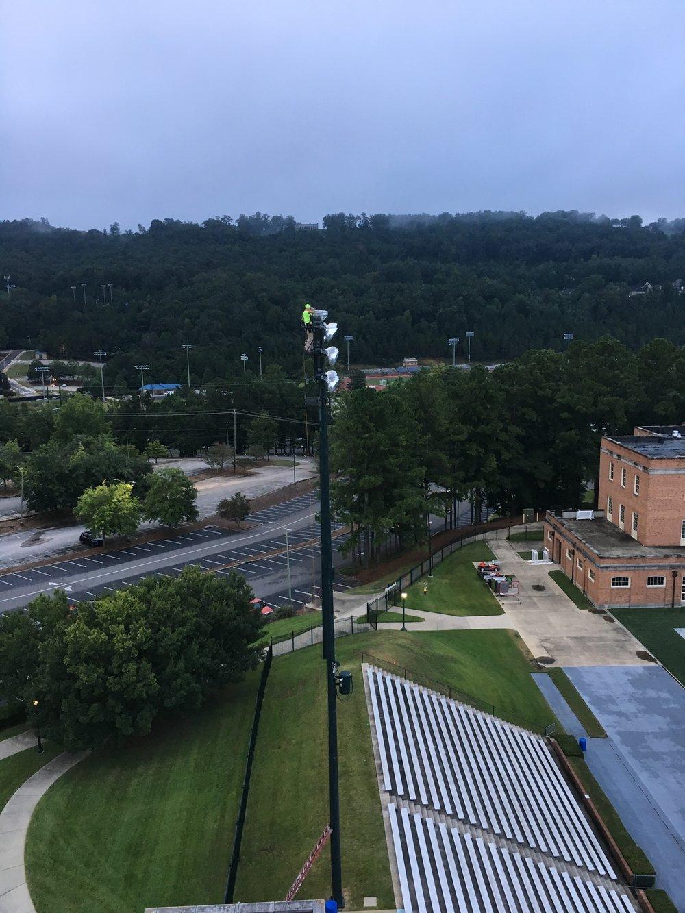 Changing Sports Lights at Samford University!