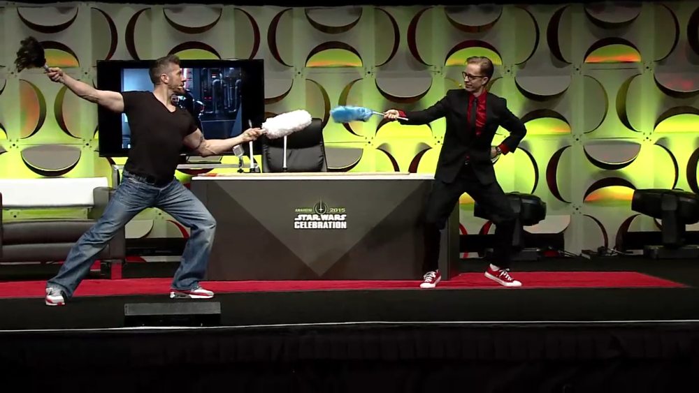 JAT and Ray Park Star Wars Celebration Anaheim 2015.