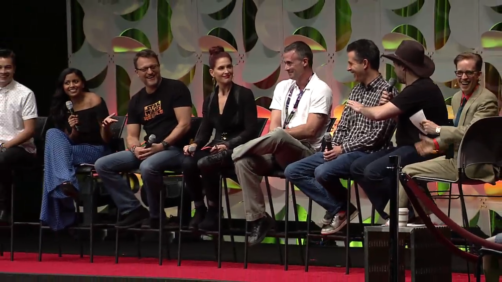 JAT and the Cast of Rebels Star Wars Celebration Anaheim 2015.