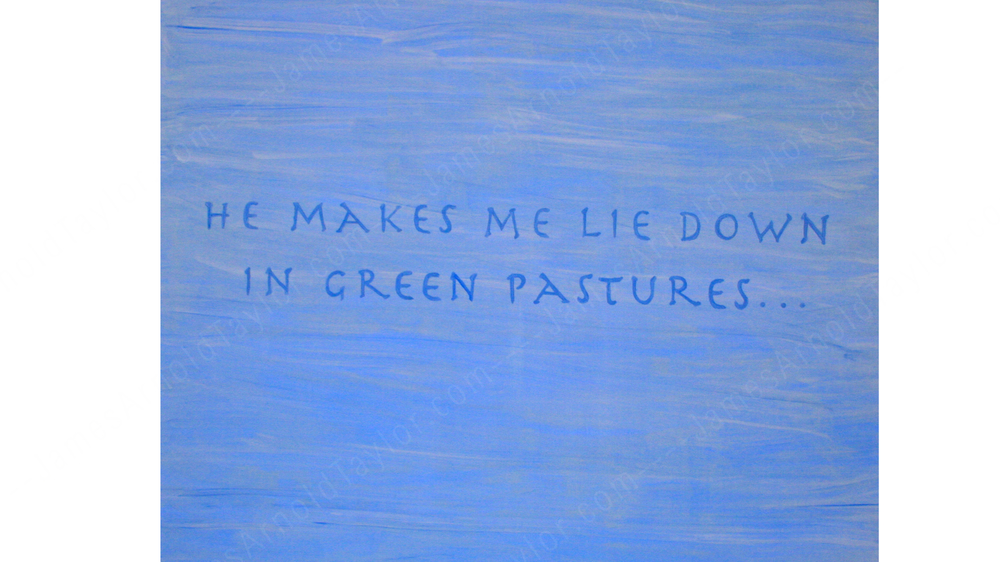 """Comfort"" (clay paint on canvas 4' x 6') By James Arnold Taylor 2010"