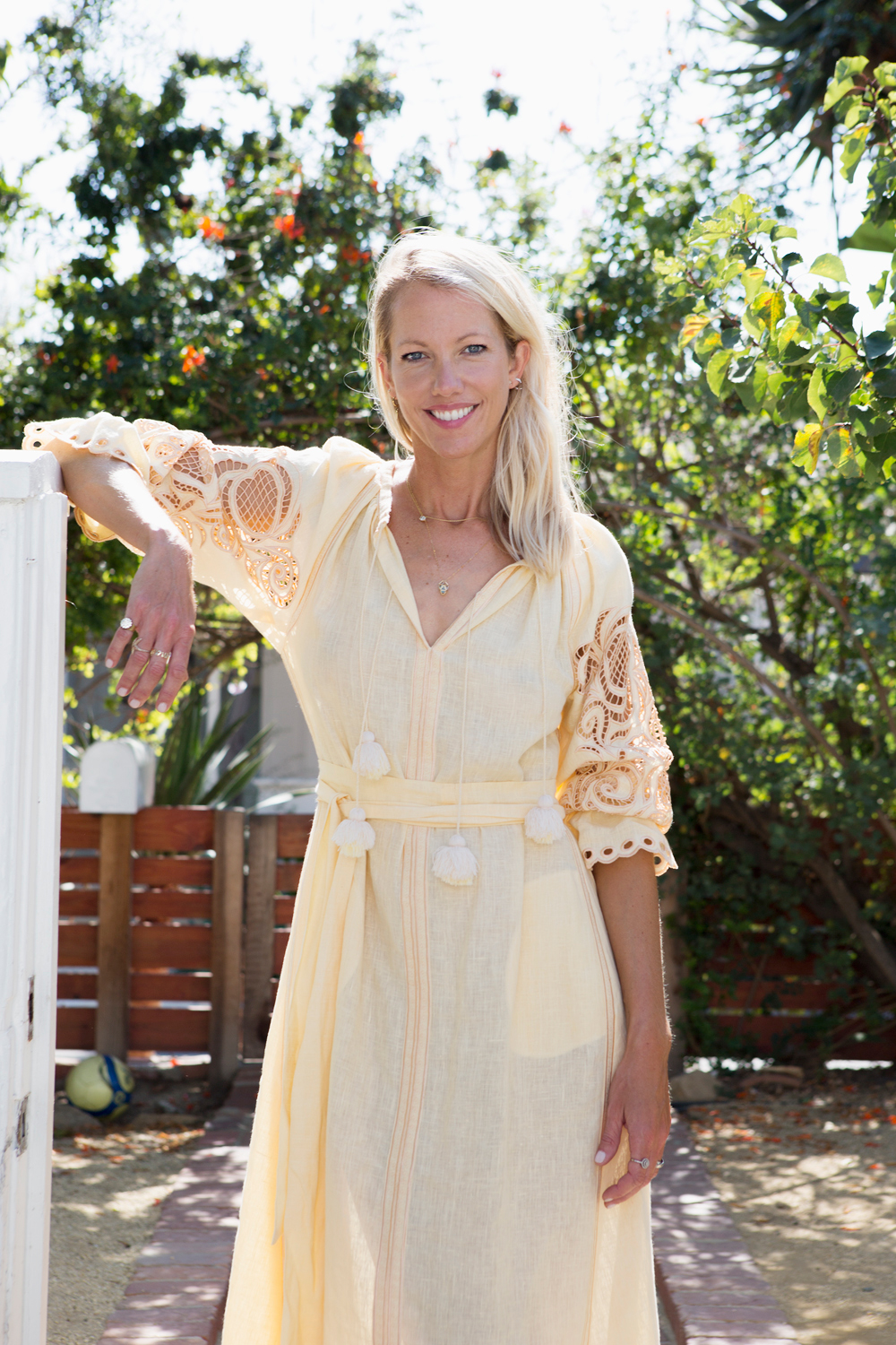 LARA EINZEG -THE GRACE TALES - Lara Einzeg invites us to THE GRACE TALES on what is trending now.Our TAMBORINE available at VERONICA BEARD!