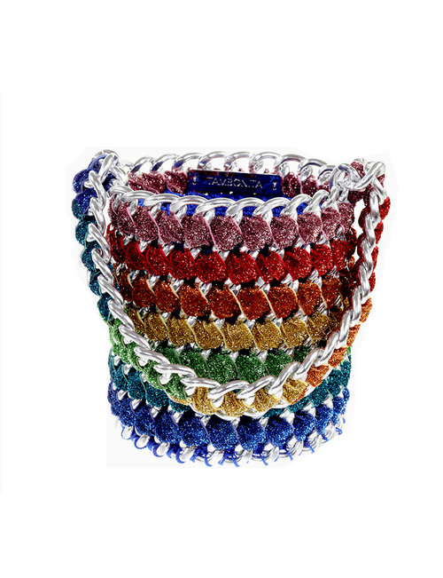 6c6ea32a920 Shimmer Rainbow Bucket with Silver Chain — Shimmer Collection — Tambonita
