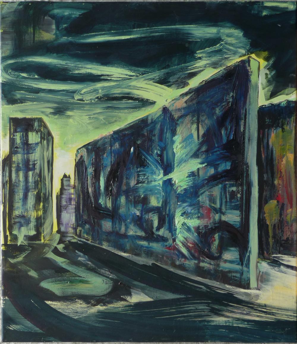 Opslag, olieverf op doek, 78 x 90 cm