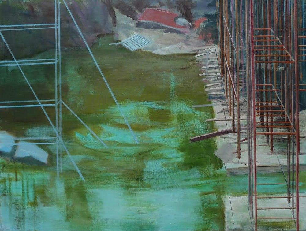 Bild 2, acryl op doek, 100 x 120 cm