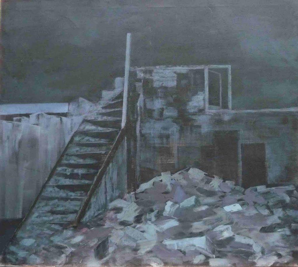 Bild 13, acryl op doek, 90 x 100 cm