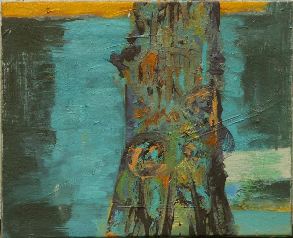 Z.t., olieverf op doek, 30 x 40 cm