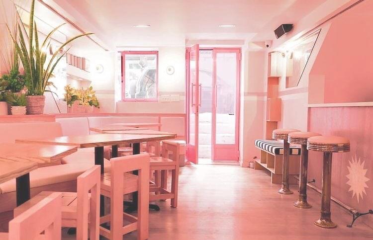 pink restaurant design trend