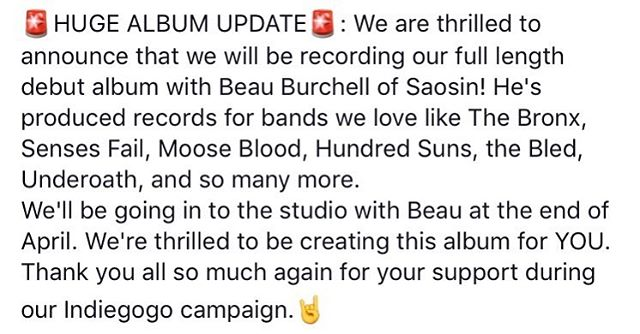 Did you miss the news yesterday? We're thrilled to be working with @beauburchell on our debut full length album!  #icymi #rivaltides #saosin #beauburchell #producers