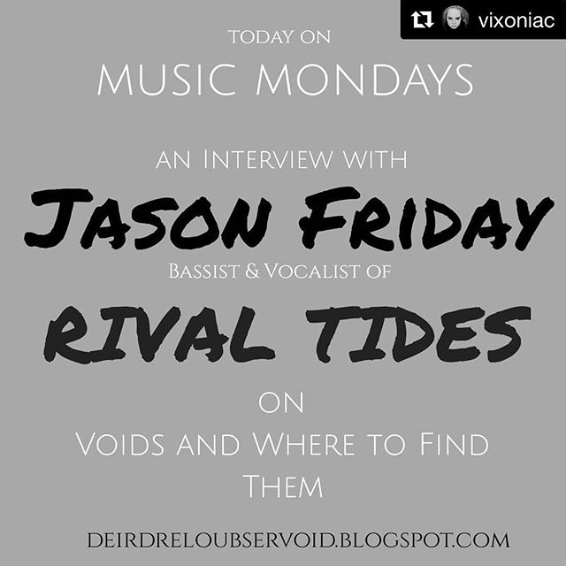 New interview with our very own @jfrizziday online now! Link in bio.  Thanks to @vixoniac! ・・・ DONT MISS today's interview with bassist Jason Friday of @rival_tides ! Majorly awesome band with majorly awesome people! Check it out on my blog - link in description! 🦇 🦇 #musicmonday #musicmondays #rocknroll #talent #rockband #rockmusic #hellcats #interview #rockers #writer #rockmusicians #rivaltides #interviews #rockbands #interviews #rockmusician #rival #tides #interviewready #rock #writersofig #blogger #interviewing #music #writersofinstagram #voidsandwheretofindthem