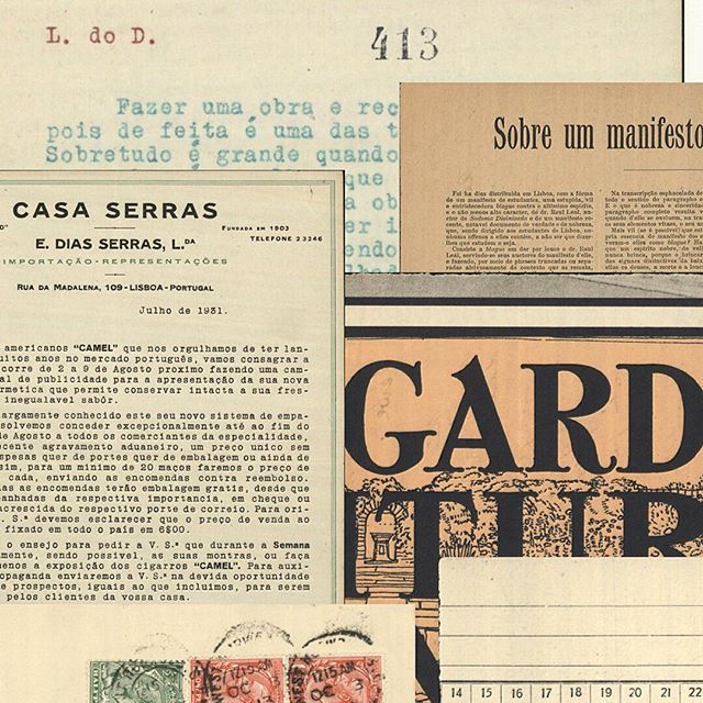 """The #graphic exuberance found in the fragmented manuscripts in which Fernando Pessoa wrote his masterpiece """"The Book of Desquiet"""" ↔ The starting point and inspiration for the dynamic #branding for the digital archive of the Book of Disquiet by Fernando Pessoa — The LdoD Archive ➳ design by #josemariacunha"""