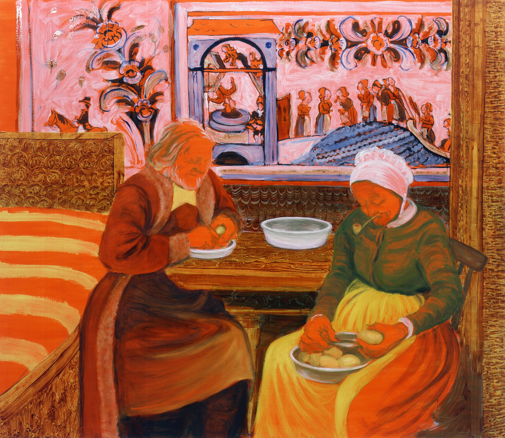 The Last Peasant-Painters Peeling Potatoes (Old Woman Mill), 2007