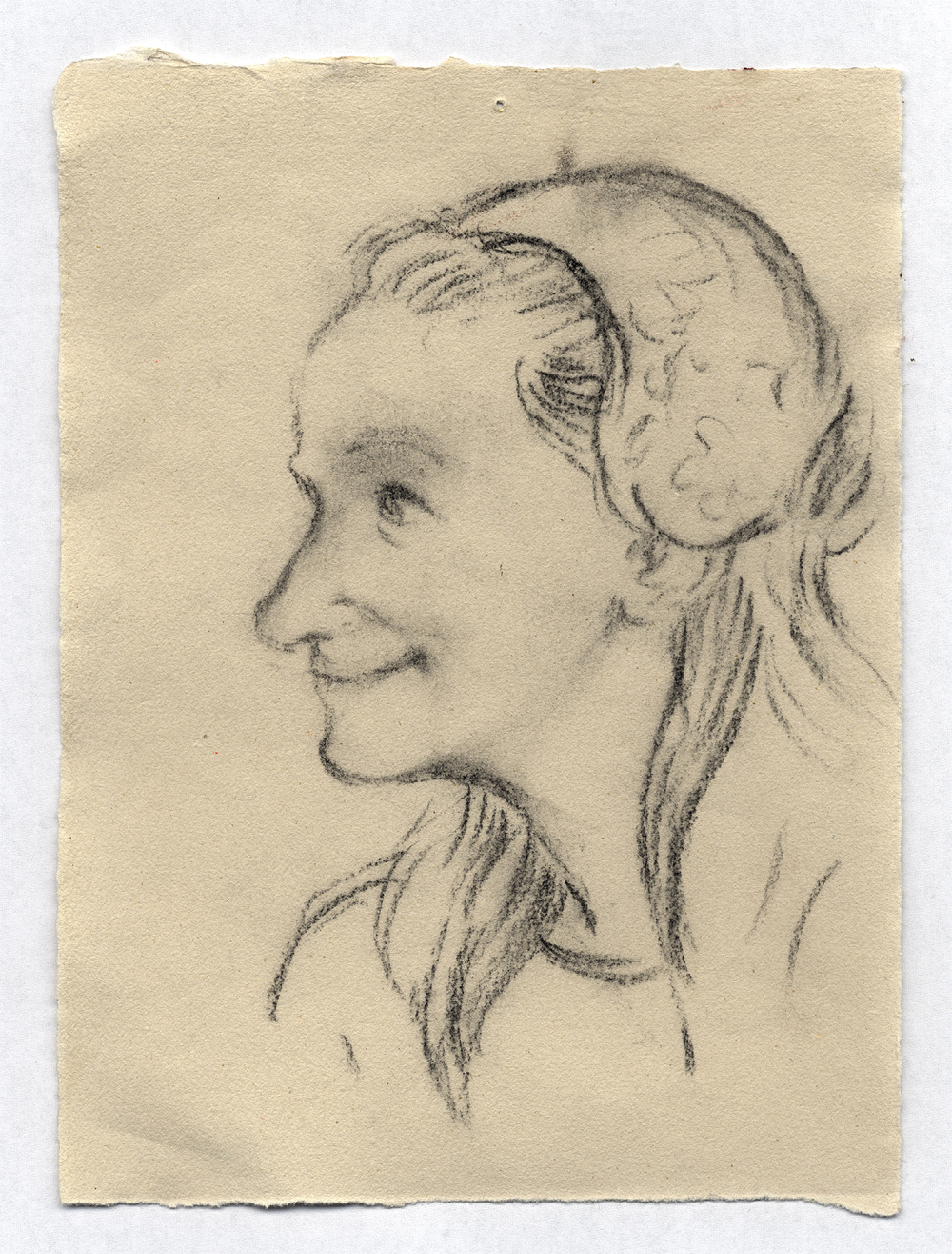 Study for 'Girl with a Distaff', charcoal on paper, 2007