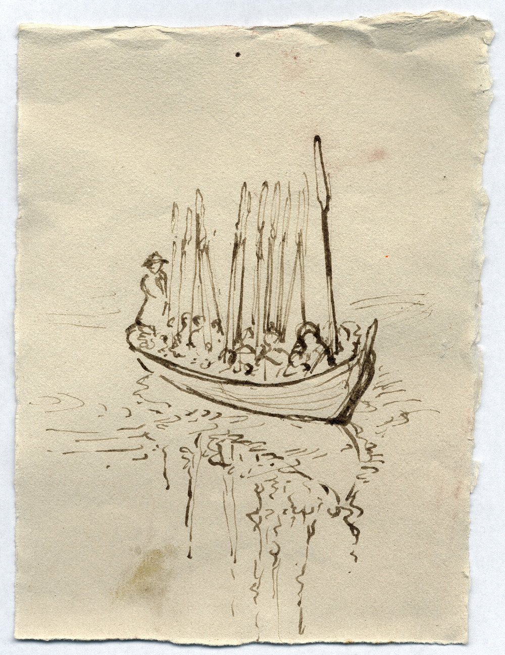 Study for Church Boats, pen and ink on paper, 2007