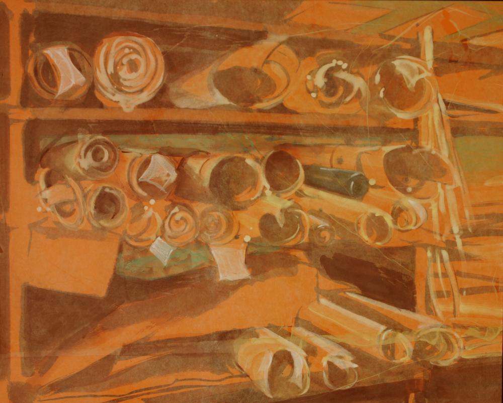 Parchment Maker's Shelves, 2010