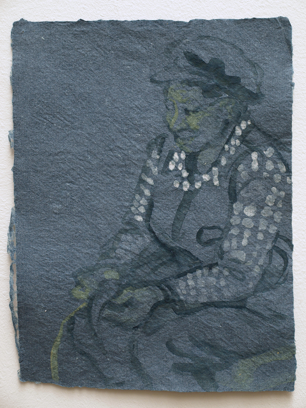 Yu He peeling bark for paper making, 2011