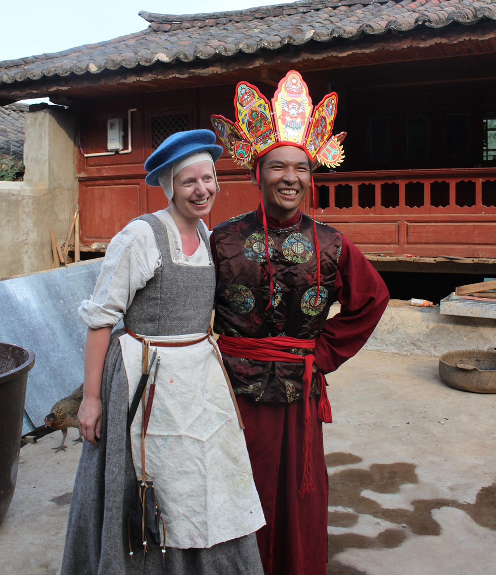 The Peasant Painter with He Xiu Jun in his shaman robes.
