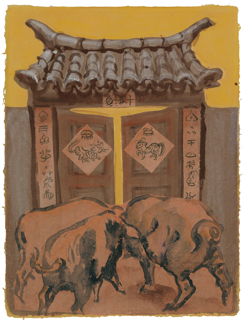 Pigs Going Through a Doorway, 2012
