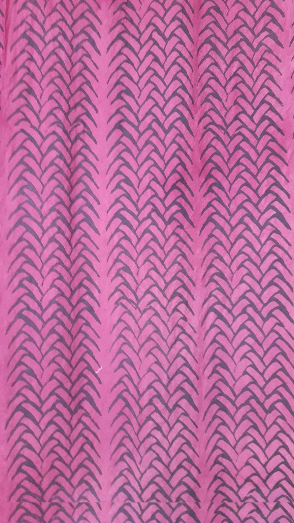 Calico mordant printed with iron and alum, and dyed with cochineal
