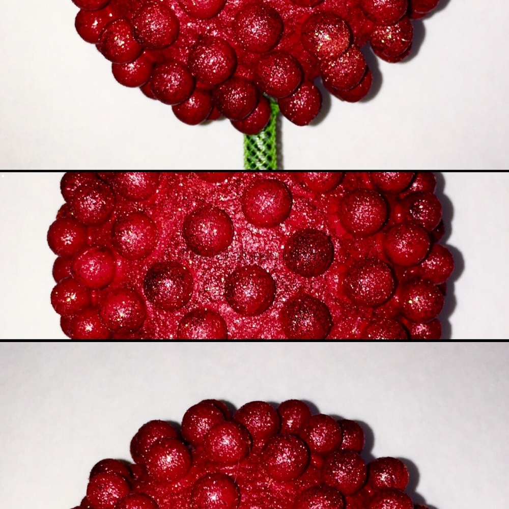 """red flower 4"""" nubs style portions"""