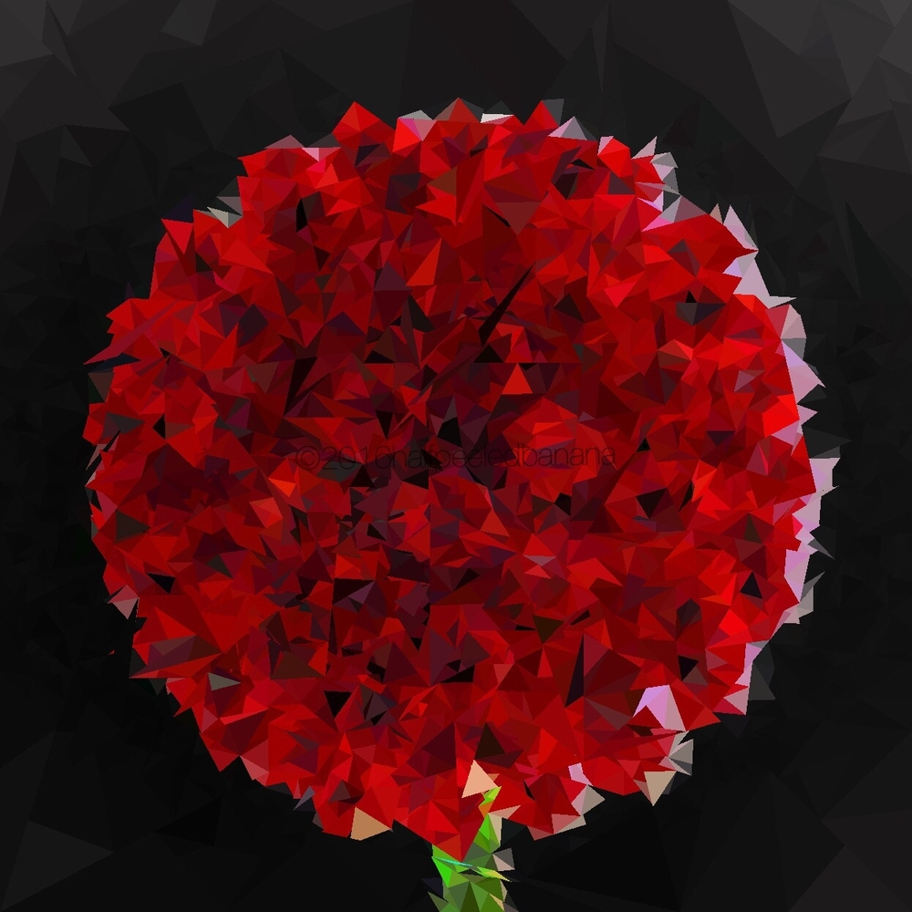 for mom triangulated red nubs flower