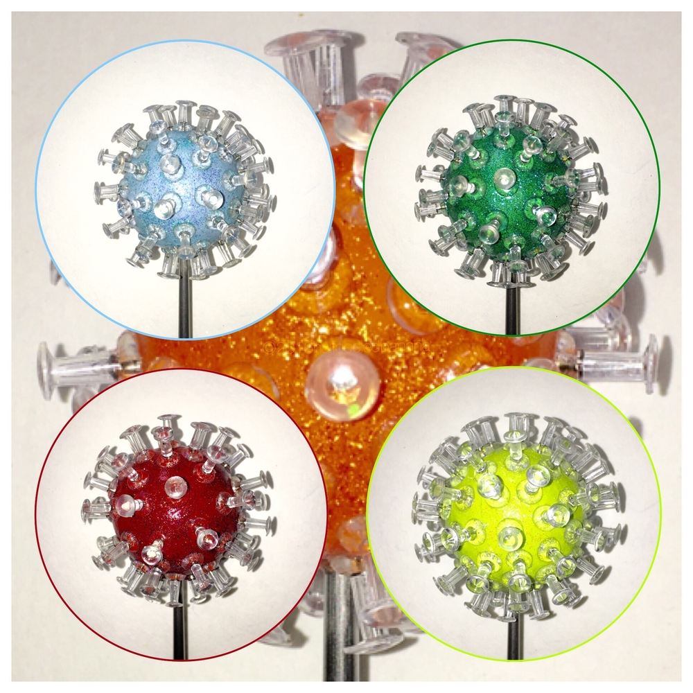 """pick a color for any decor - 3"""" pins tabletop flowers"""