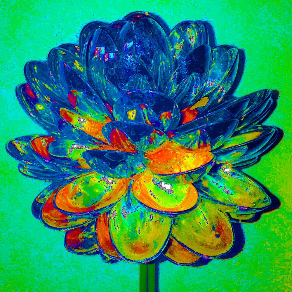 """kai's neon green"" fine art print spoons no. 04 by ann vanatta gutierrez"