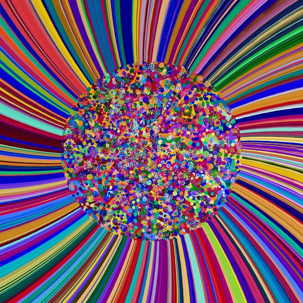 """""""love burst""""  love art print no. 02 by ann vanatta gutierrez"""