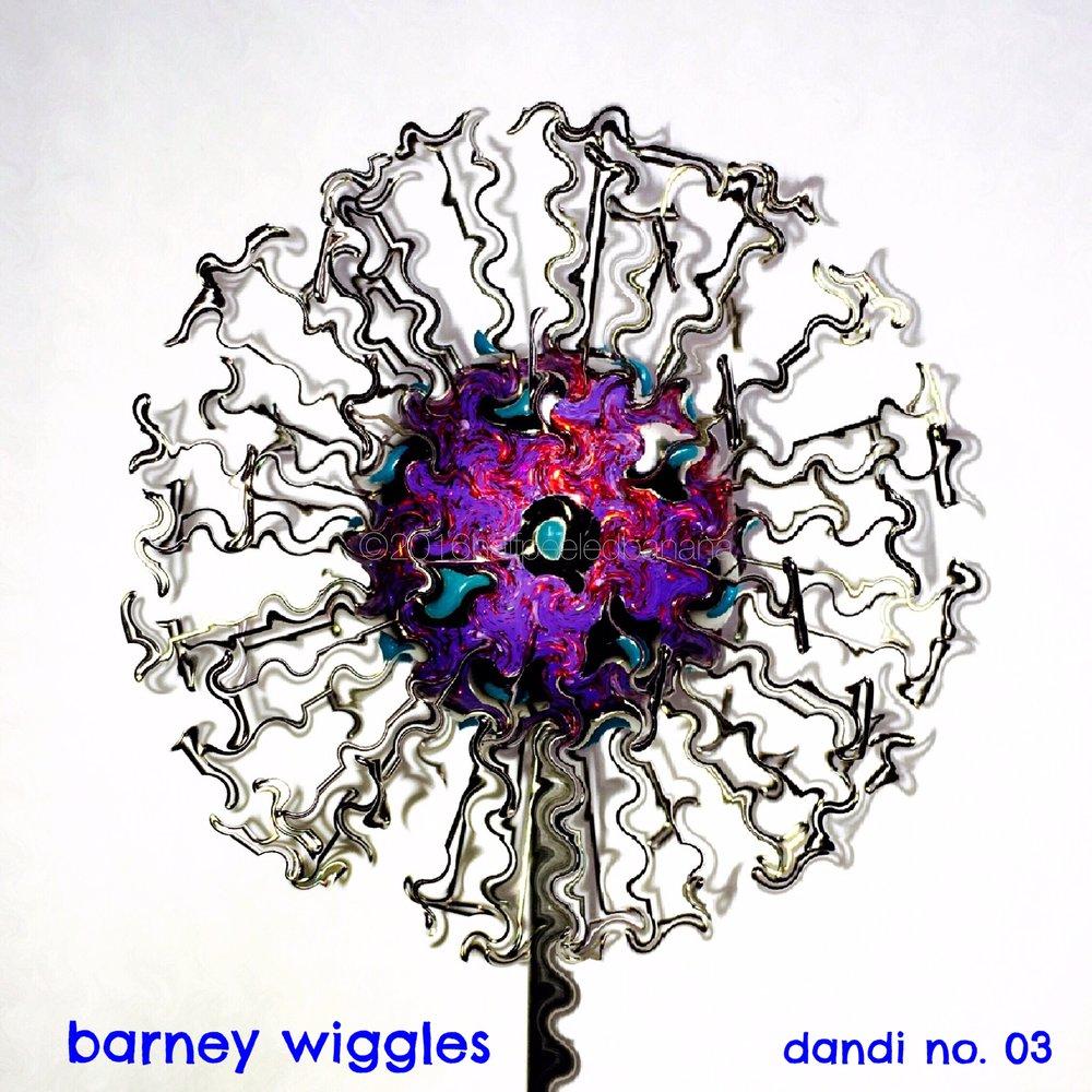 barney wiggles print - a frazzled dandi