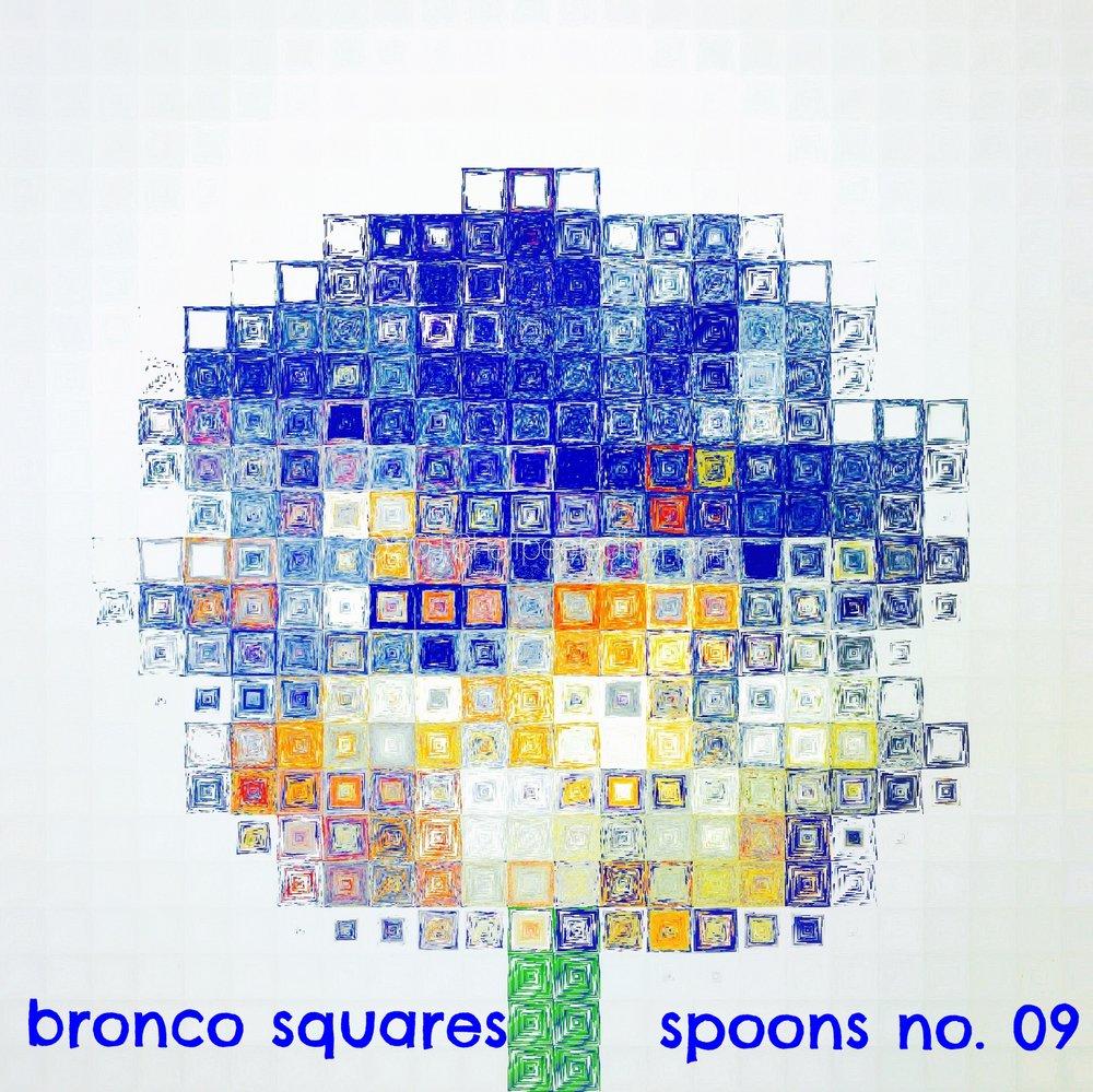 bronco squares - spoons print no. 09