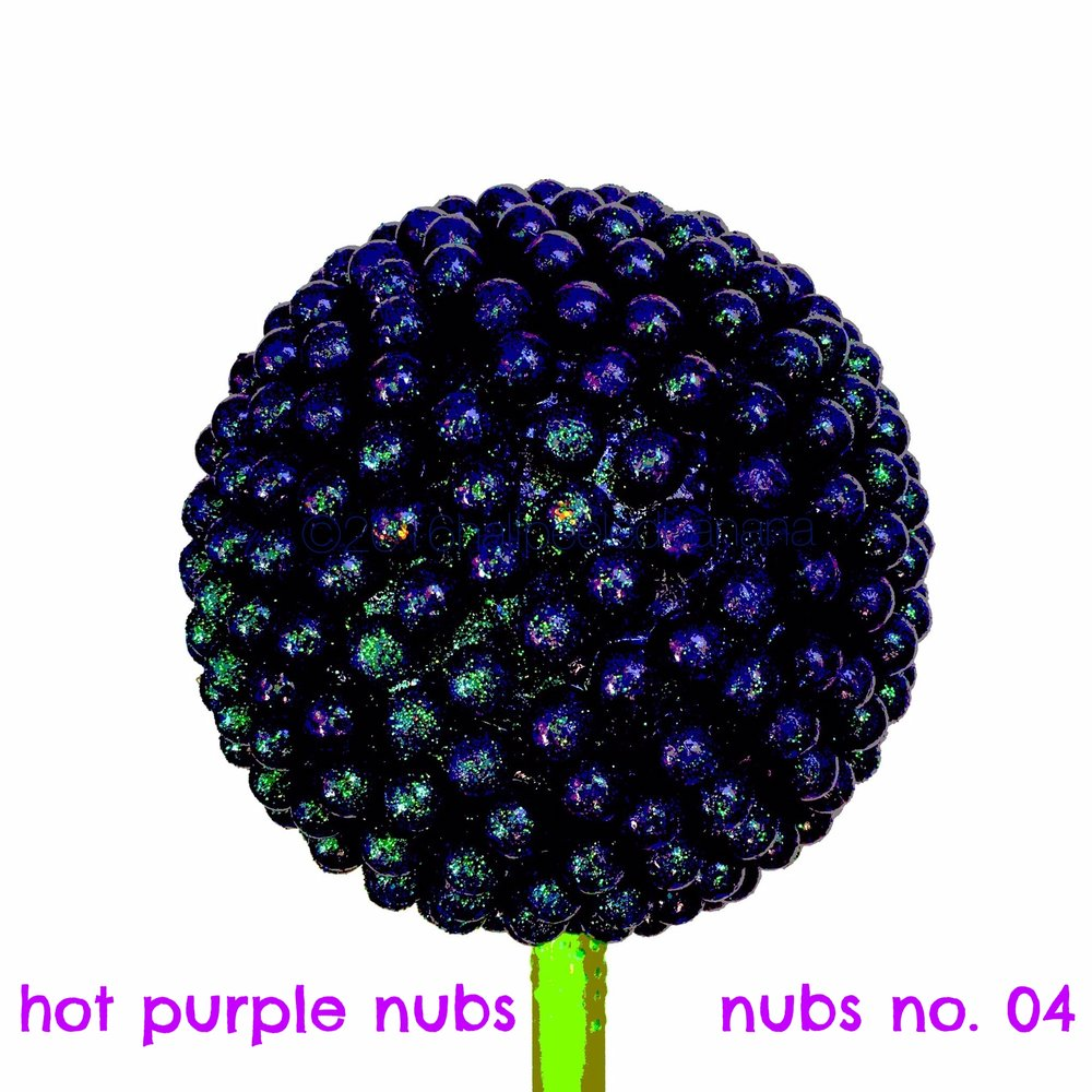 hot purple nubs - nubs print no. 04
